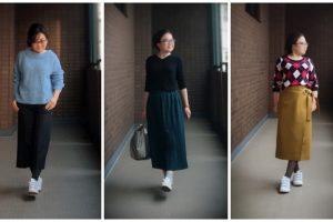小柄ファッションの画像